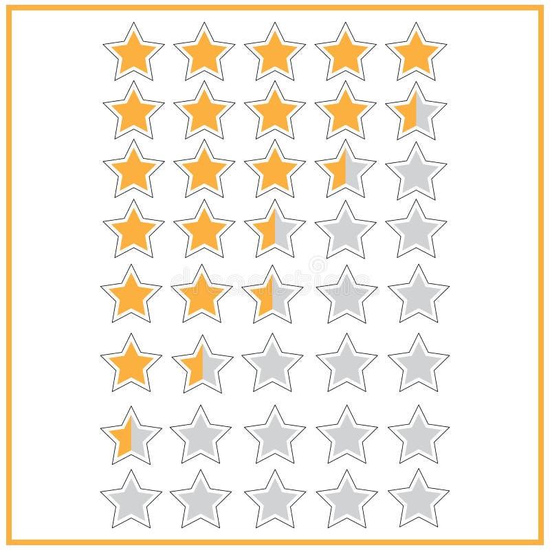 icono de cinco estrellas del grado stock de ilustración