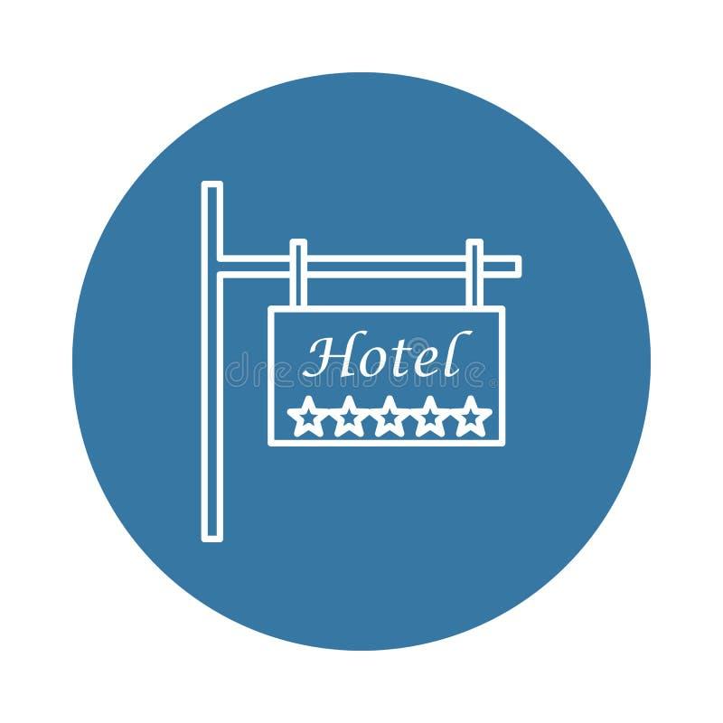 icono de cinco estrellas del hotel de la señal de tráfico Elemento de los iconos del hotel para los apps móviles del concepto y d ilustración del vector