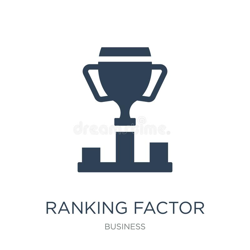 icono de clasificación del factor en estilo de moda del diseño icono de clasificación del factor aislado en el fondo blanco icono ilustración del vector