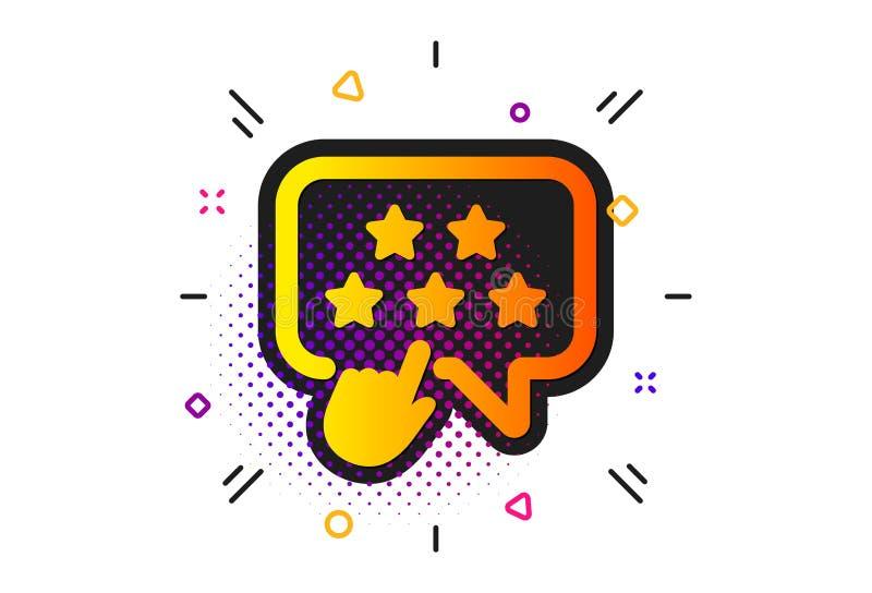 Icono de clasificación de la estrella Muestra del grado del tecleo Fila del embajador de la marca Vector ilustración del vector