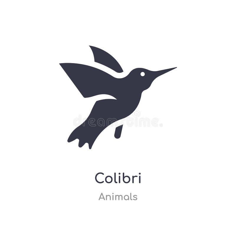 Icono de Colibri ejemplo aislado del vector del icono del colibri de la colección de los animales editable cante el s?mbolo puede libre illustration