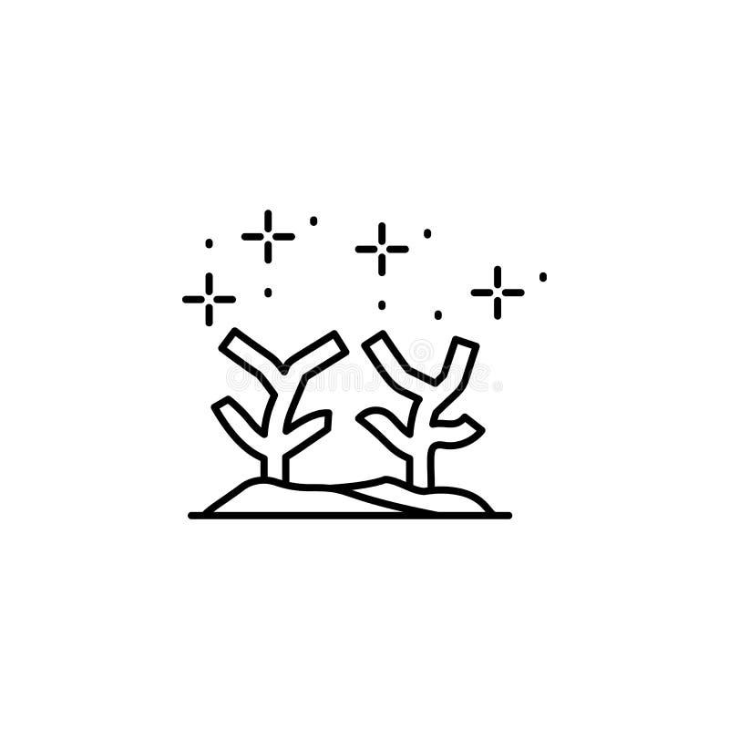 Icono de collar de buceo Elemento del icono de buceo ilustración del vector