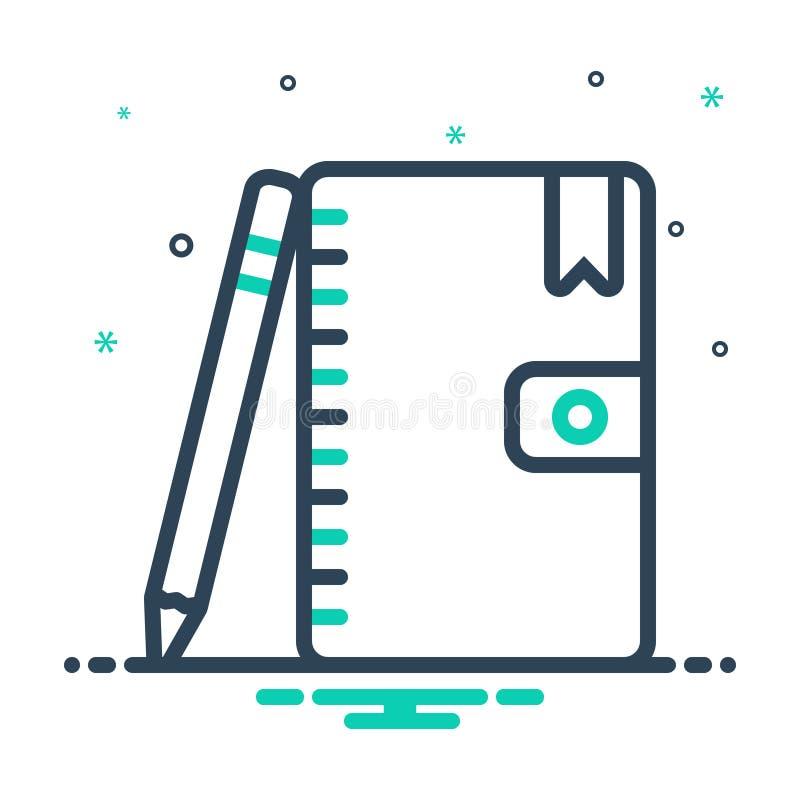 icono de combinación para Agenda, programa y programa libre illustration