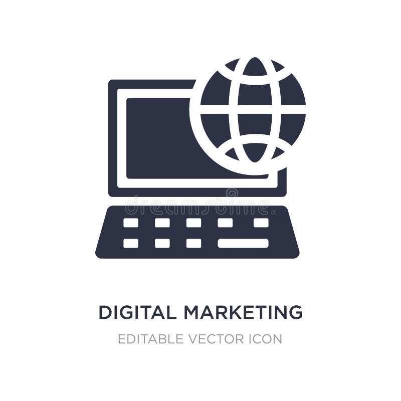 icono de comercialización digital en el fondo blanco Ejemplo simple del elemento del concepto de comercialización de los medios s libre illustration