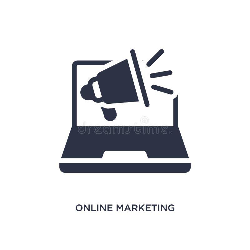 icono de comercialización en línea en el fondo blanco Ejemplo simple del elemento del concepto del márketing libre illustration