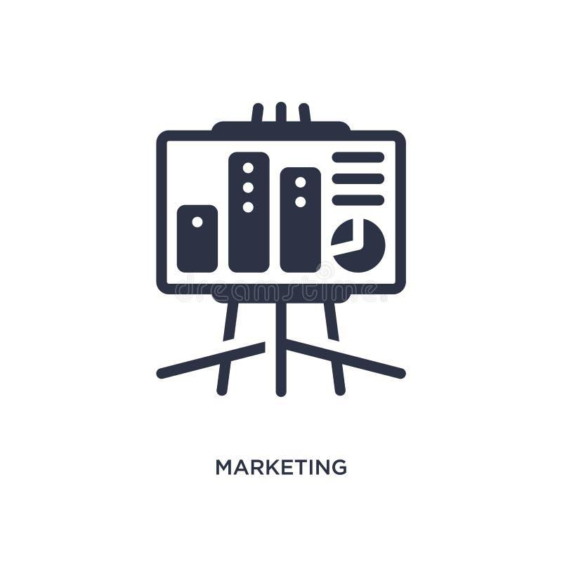 icono de comercialización de la presentación en el fondo blanco Ejemplo simple del elemento del concepto del márketing ilustración del vector