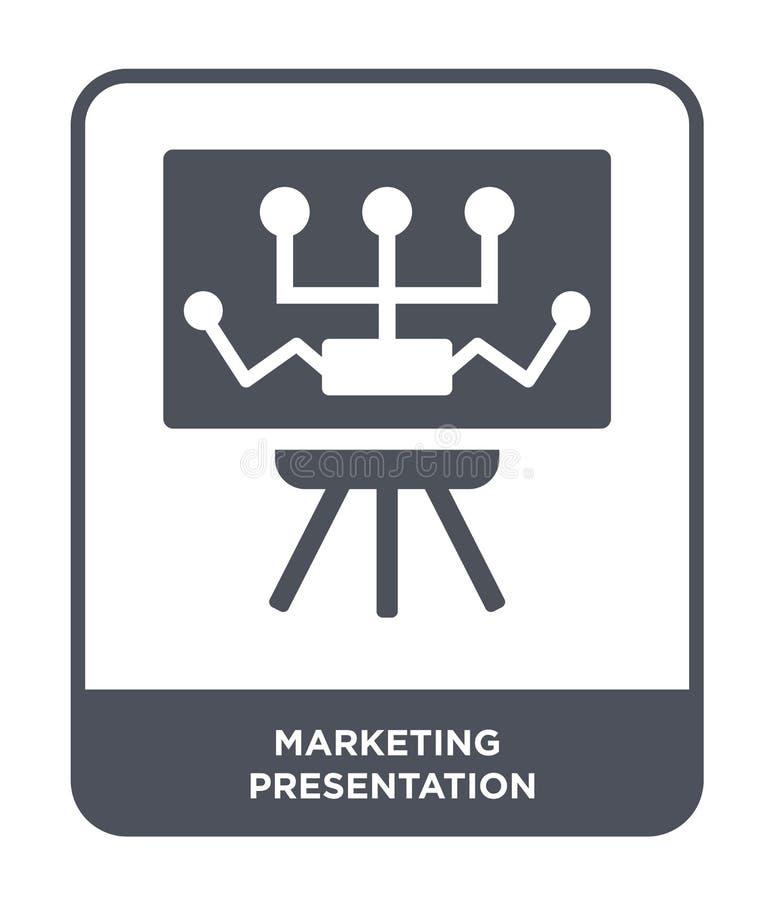 icono de comercialización de la presentación en estilo de moda del diseño icono de comercialización de la presentación aislado en libre illustration