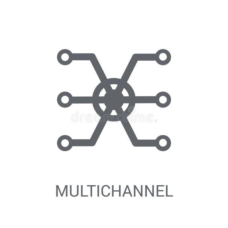 Icono de comercialización de varios canales  libre illustration