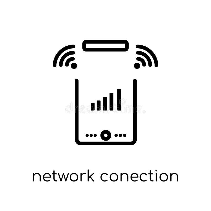 icono de Conection de la red Red linear plana moderna de moda del vector libre illustration