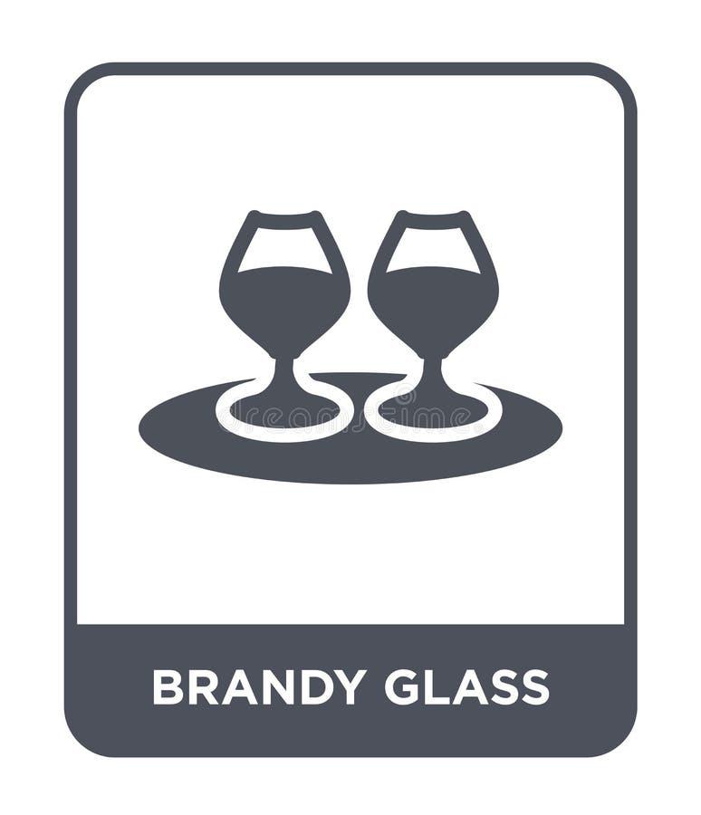 icono de cristal de brandy en estilo de moda del diseño icono de cristal de brandy aislado en el fondo blanco icono de cristal de libre illustration
