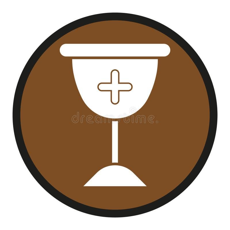 Icono de cristal cruzado stock de ilustración