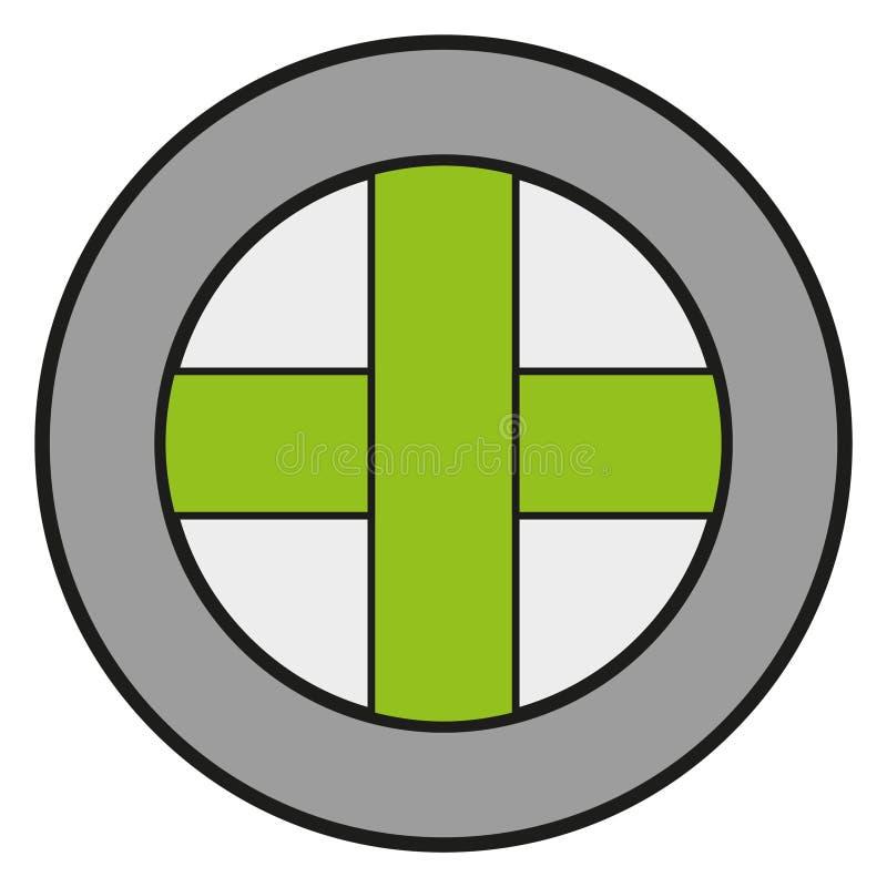 Icono de cristal cruzado ilustración del vector