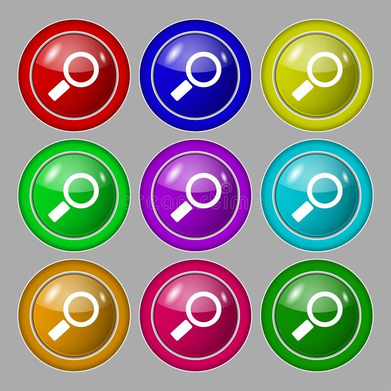 Icono de cristal de la muestra de la lupa Botón de la herramienta del enfoque libre illustration