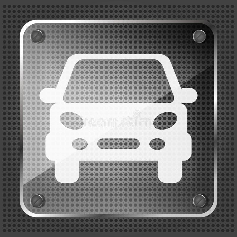 Icono de cristal del coche stock de ilustración