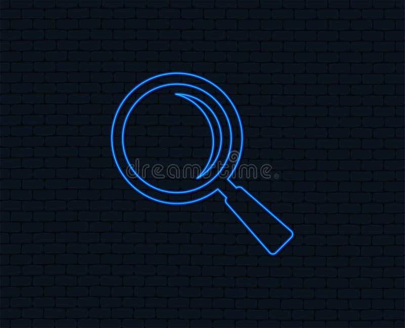 Icono de cristal de la muestra de la lupa Herramienta del enfoque nearsighted ilustración del vector