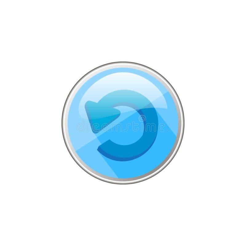 Icono de cristal redondo del vector simple de la flecha redondeada libre illustration