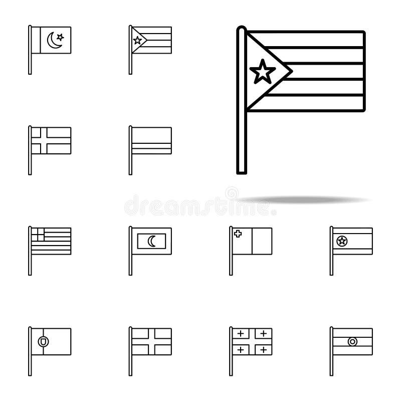 Icono de Cuba sistema universal de los iconos de las banderas para la web y el móvil libre illustration