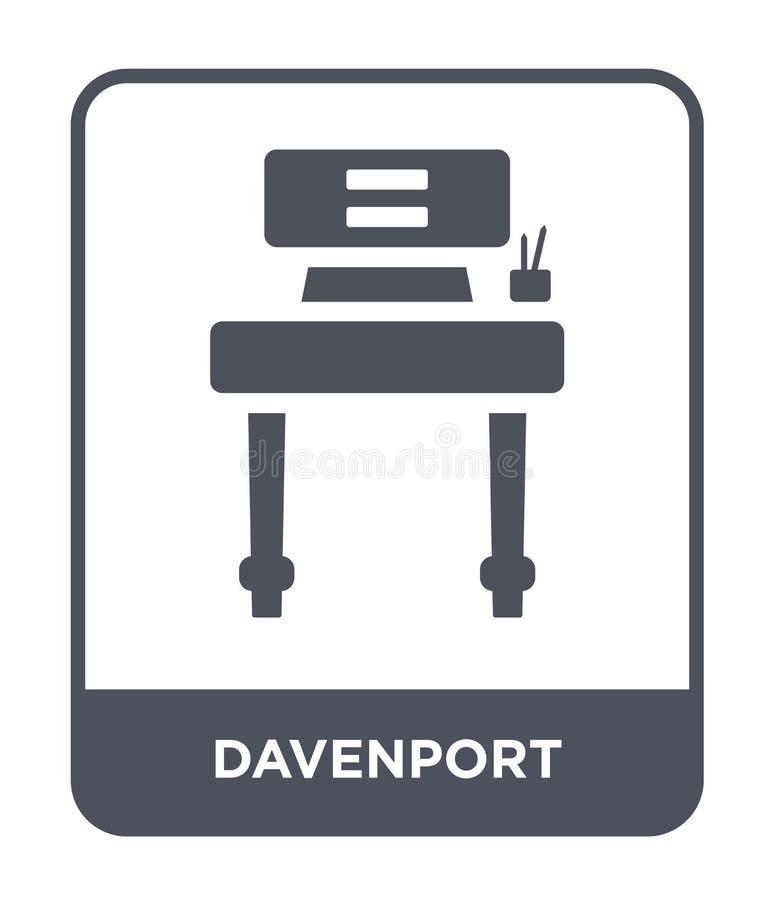 icono de Davenport en estilo de moda del diseño icono de Davenport aislado en el fondo blanco plano simple y moderno del icono de libre illustration