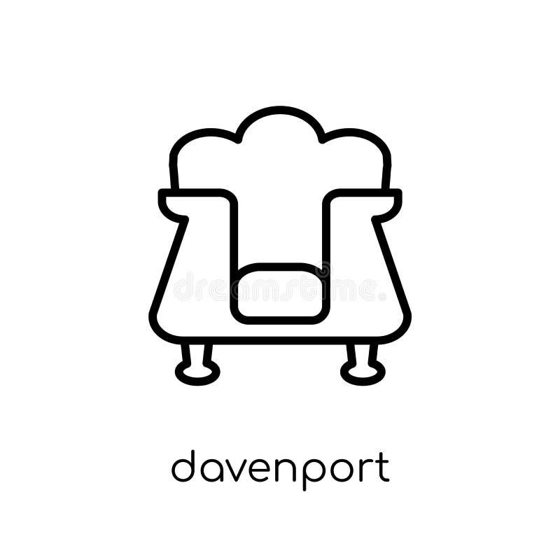 Icono de Davenport de la colección de los muebles y del hogar libre illustration