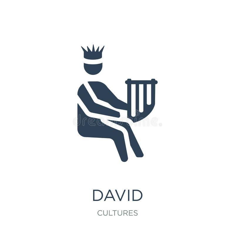 icono de David en estilo de moda del diseño icono de David aislado en el fondo blanco símbolo plano simple y moderno del icono de libre illustration