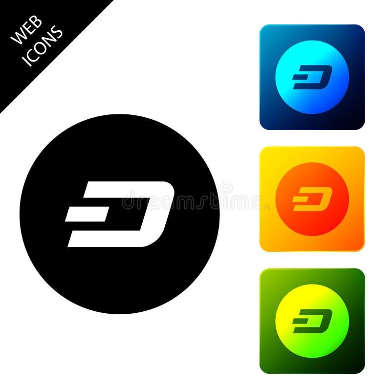 Icono de decensión de criptomoneda Moneda de bit física Moneda digital Símbolo Altcoin Seguridad basada en la cadena de bloqueo libre illustration