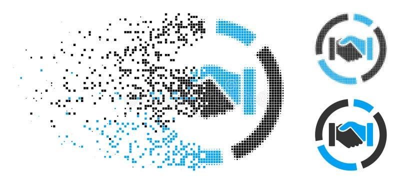 Icono de desaparición de Dot Halftone Cooperation Handshake Diagram ilustración del vector