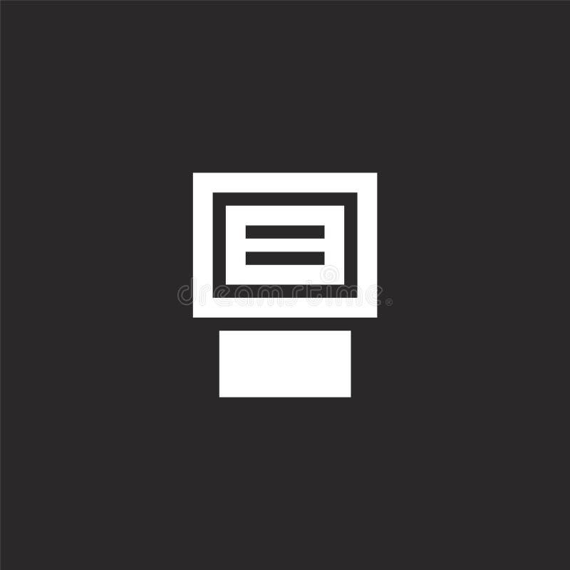 Icono de destello Icono de destello llenado para el diseño y el móvil, desarrollo de la página web del app icono de destello de l stock de ilustración