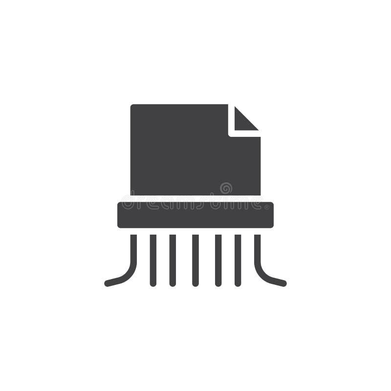 Icono de destrozo de papel del vector stock de ilustración