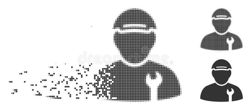 Icono de Disappearing Pixel Halftone del mecánico libre illustration
