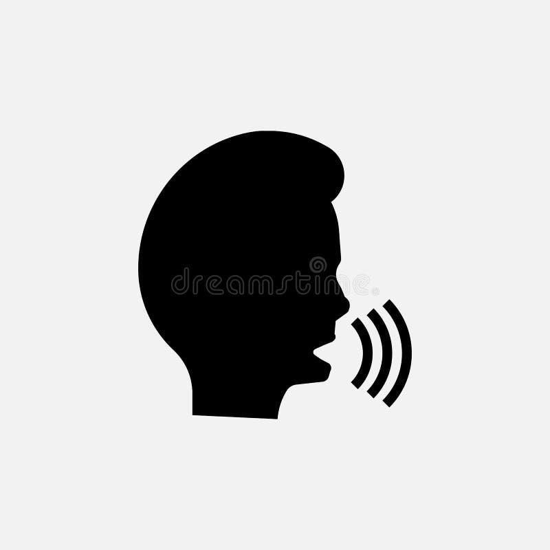 Icono de discurso del hombre Símbolo que habla Ilustración del vector libre illustration