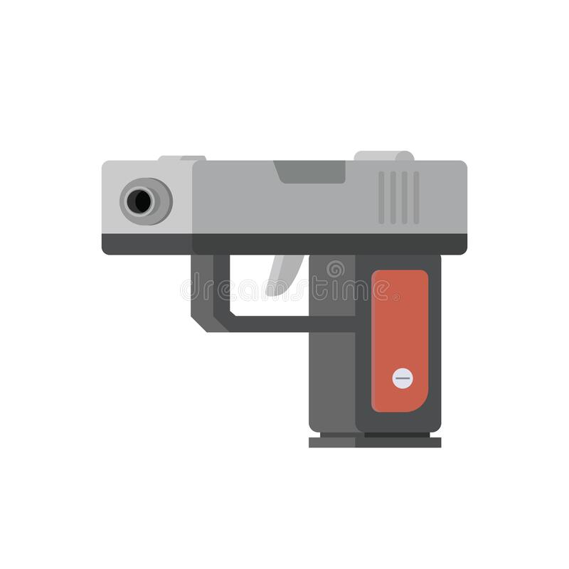 Icono de diseño plano de pistola aislado en el vector de caricatura de fondo blanco ilustración del vector