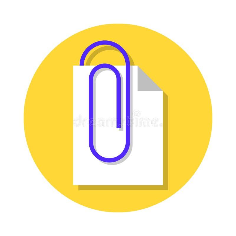Icono de documento de la fijación stock de ilustración
