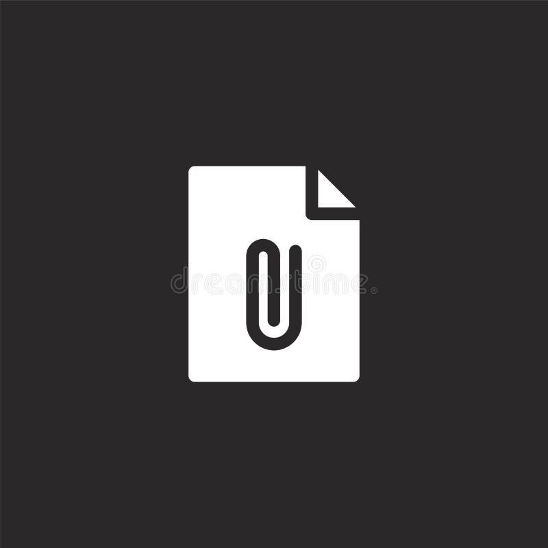 Icono de documento Icono de documento llenado para el diseño y el móvil, desarrollo de la página web del app icono de documento d stock de ilustración