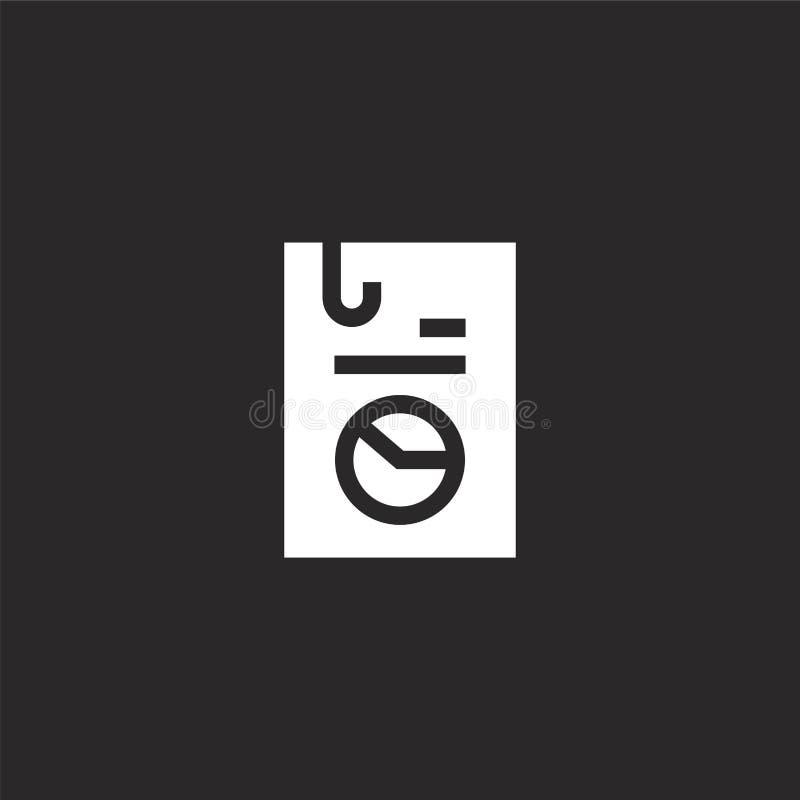 Icono de documento Icono de documento llenado para el diseño y el móvil, desarrollo de la página web del app icono de documento d ilustración del vector