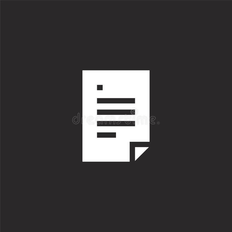 Icono de documento Icono de documento llenado para el diseño y el móvil, desarrollo de la página web del app icono de documento d libre illustration