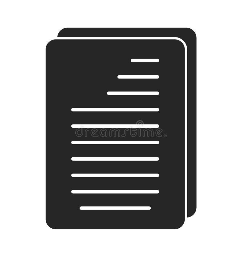Icono de documento Vector plano del estilo stock de ilustración