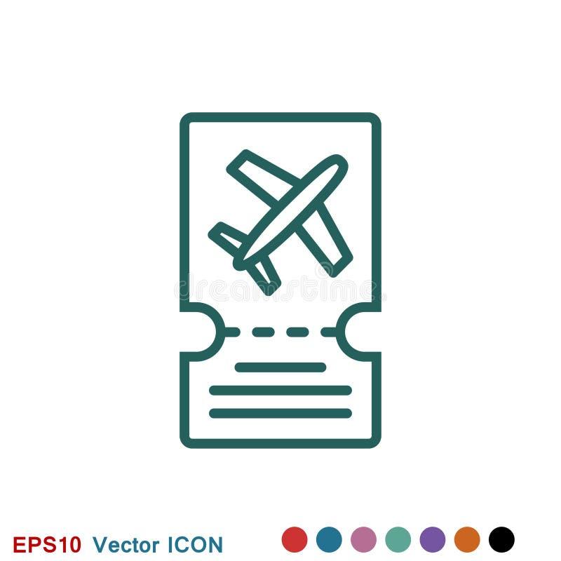 Icono de documentos de viaje, pasaporte con de los boletos el icono completamente aislado Viaje y turismo del concepto libre illustration