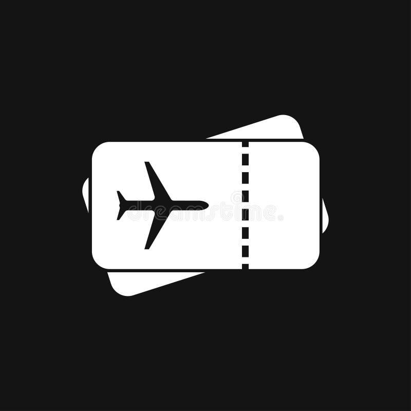 Icono de documentos de viaje, pasaporte con de los boletos el icono completamente aislado Viaje y turismo del concepto ilustración del vector