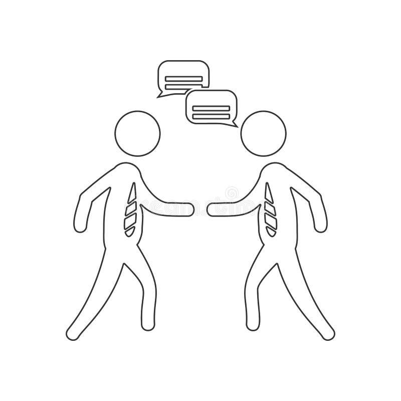Icono de dos altavoces Elemento de la hora para el concepto y el icono m?viles de los apps de la web Esquema, l?nea fina icono pa stock de ilustración