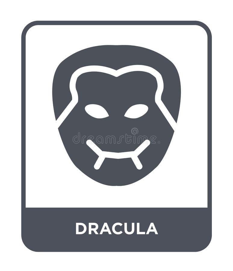 icono de Drácula en estilo de moda del diseño icono de Drácula aislado en el fondo blanco símbolo plano simple y moderno del icon stock de ilustración
