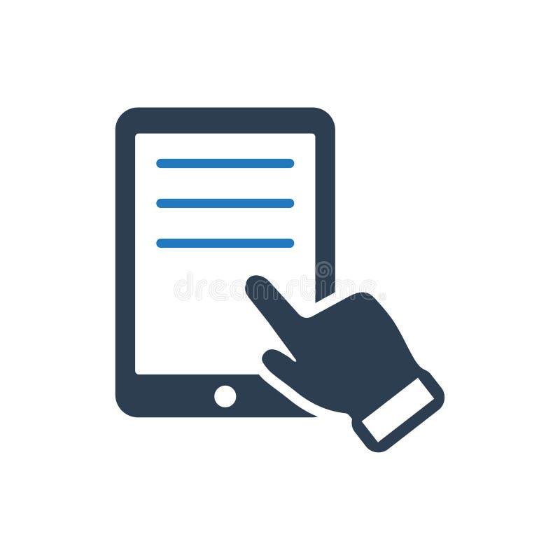 Icono de Ebook de la lectura ilustración del vector