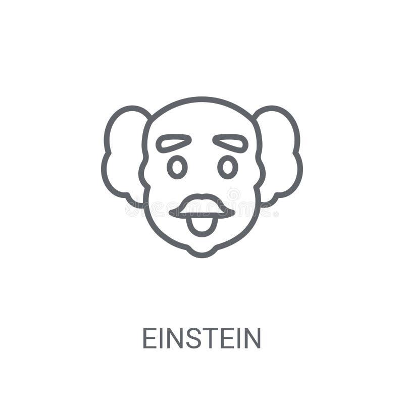 Icono de Einstein Concepto de moda del logotipo de Einstein en el fondo blanco stock de ilustración