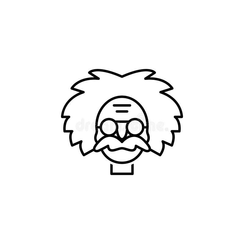 Icono de Einstein Elemento del ejemplo de la ciencia Línea ejemplo fina para el diseño y el desarrollo, desarrollo del sitio web  libre illustration