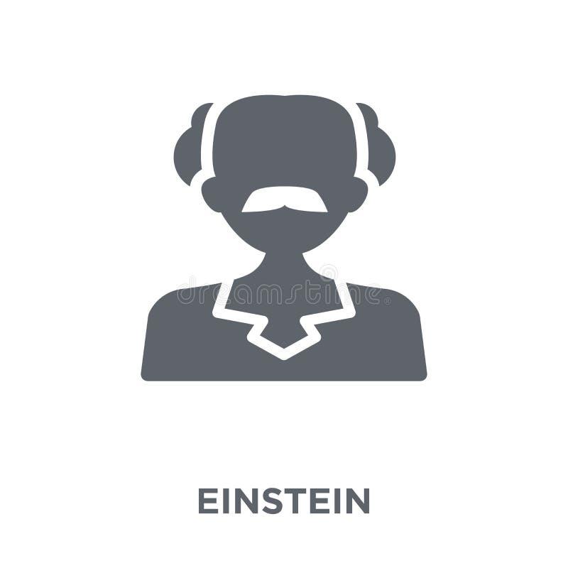 Icono de Einstein de la colección stock de ilustración