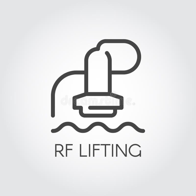 Icono de elevación del concepto del RF Tratamiento de la belleza y de la cosmetología Corrección, procedimiento de la piel del re ilustración del vector
