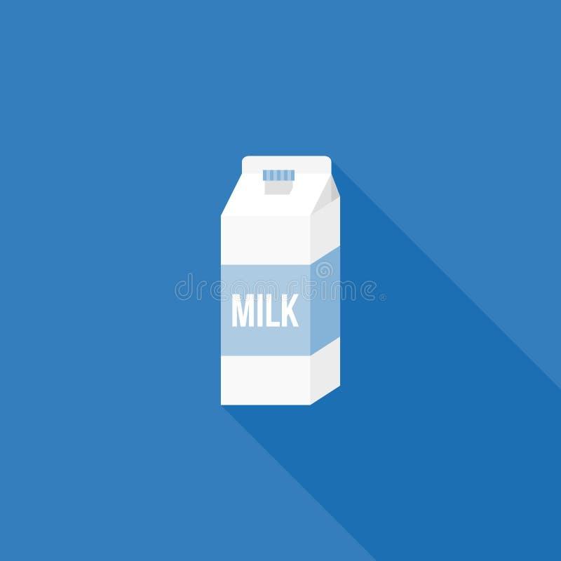 Icono de empaquetado de papel del cartón de la leche ilustración del vector