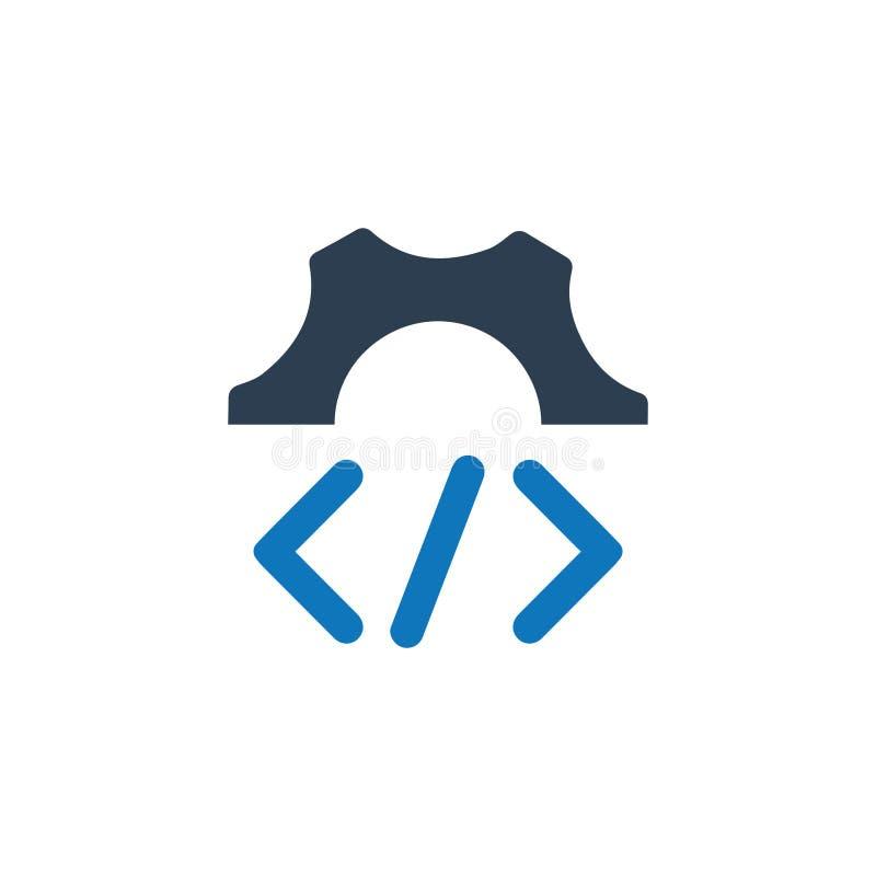 Icono de encargo de la codificación libre illustration