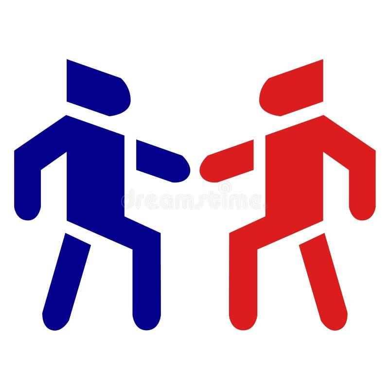 Icono de enlace del vector de la relación social de la fraternidad de la gente stock de ilustración