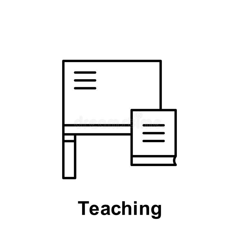 Icono de enseñanza del esquema Elemento del icono del ejemplo del Día del Trabajo Las muestras y los símbolos se pueden utilizar  libre illustration