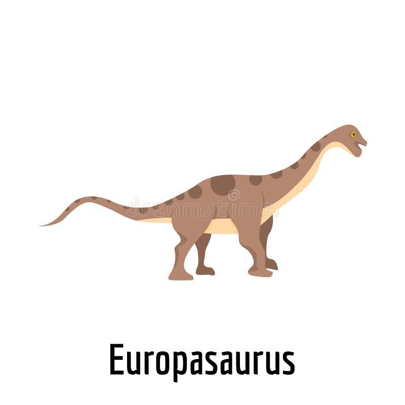 Icono de Europasaurus, estilo plano ilustración del vector